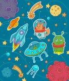 Cosmic life stock illustration