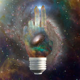 Cosmic light bulb Stock Photo