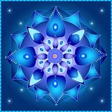 Cosmic Mandala. Symmetrical elements creating a mandala theme stock illustration