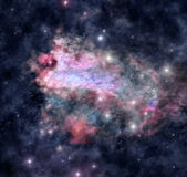 Cosmic nebula. An illustration of bright nebula in deep space Royalty Free Stock Photos