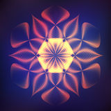 Cosmic neon flower Stock Photos