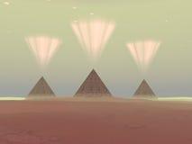 Cosmic Pyramids Stock Image