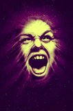 Cosmic scream poster. Cosmic screaming banshee good for posters and t-shirt design Royalty Free Stock Photo