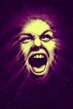 Cosmic scream poster Royalty Free Stock Photo