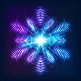 Cosmic shining  abstract snowflake Stock Photo