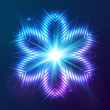 Cosmic shining vector abstract flower Stock Photos