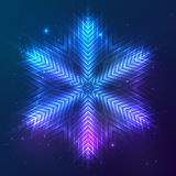 Cosmic shining vector abstract snowflake Stock Images