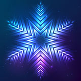 Cosmic shining vector abstract snowflake Stock Photography
