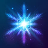Cosmic shining vector abstract snowflake Stock Image