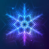 Cosmic shining vector abstract snowflake Royalty Free Stock Photo