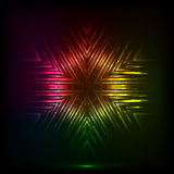 Cosmic shining vector abstract snowflake Royalty Free Stock Photo
