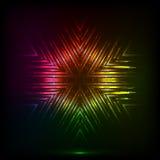 Cosmic shining vector abstract snowflake Royalty Free Stock Image