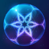 Cosmic shining vector abstract sphere Royalty Free Stock Photo