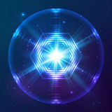 Cosmic shining vector abstract sphere Stock Images