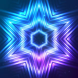 Cosmic shining vector abstract star Stock Photography