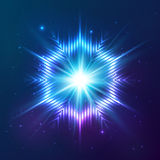 Cosmic shining vector abstract star Royalty Free Stock Photos