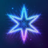 Cosmic shining vector abstract star Royalty Free Stock Image
