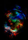 Cosmic space and colorful structure with circle shapes, color cosmic abstract background. Stock Photography