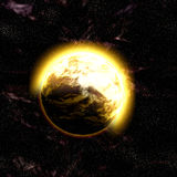 Cosmic space planet Royalty Free Stock Photography