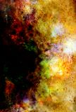 Cosmic space and stars, color cosmic abstract background. Royalty Free Stock Photos