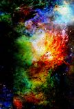Cosmic space and stars, color cosmic abstract background. Stock Photos
