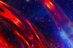 Cosmic space and stars, color cosmic abstract background. Royalty Free Stock Photography