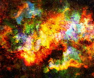 Cosmic space and stars, color cosmic abstract background. Crackle effect. Fire effect. Cosmic space and stars, color cosmic abstract background. Crackle effect Stock Photo