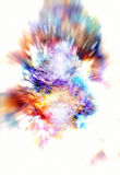 Cosmic space and stars, color cosmic abstract background. explosion effect. Stock Photo