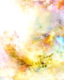 Cosmic space and stars, color cosmic abstract background. Fire effect. Royalty Free Stock Images