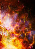 Cosmic space and stars, color cosmic abstract background. Fire effect. Stock Images