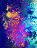 Cosmic space and stars, color cosmic abstract background. Fire effect. Stock Photo
