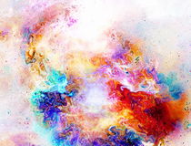 Cosmic space and stars, color cosmic abstract background. Fire effect in space. Royalty Free Stock Photo
