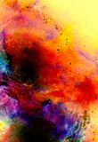 Cosmic space and stars, color cosmic abstract background. Fire effect in space. Stock Photos
