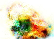 Cosmic space and stars, color cosmic abstract background. Fire effect in space. Stock Photography