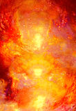 Cosmic space and stars, color cosmic abstract background. Fire effect in space. Royalty Free Stock Images