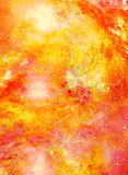 Cosmic space and stars, color cosmic abstract background. Fire effect in space. Royalty Free Stock Photography
