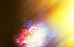 Cosmic space and stars, color cosmic abstract background. Light effect in space. Cosmic space and stars, color cosmic abstract background. Light effect in space royalty free illustration