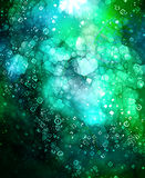 Cosmic space and stars, cosmic abstract background and glass effect. Copy space. Royalty Free Stock Photography