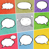 Cosmic speech bubbles, explosions, paper design Royalty Free Stock Image