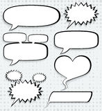 Cosmic speech bubbles, paper design Royalty Free Stock Photo