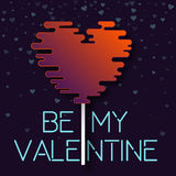 Cosmic style be my valentine card. Stock Photos