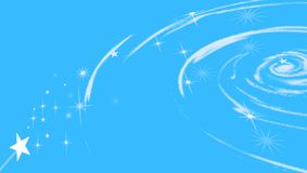 Cosmic swirl with stars. Celestial swirl with stars on blue background Royalty Free Illustration