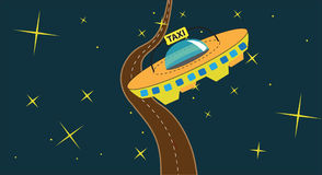 Cosmic taxi Royalty Free Stock Images