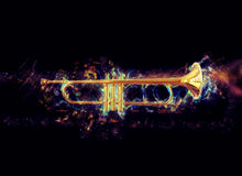 Cosmic trumpet Stock Photo