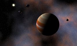Cosmic Visualization Stock Photo