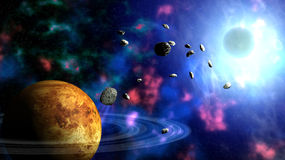 CosmicSpace. Deep cosmic space 3d rendered image Stock Images