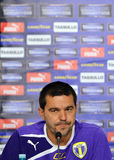 Cosmin Contra of Petrolul Ploiesti Press Conference Royalty Free Stock Photos