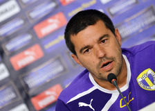 Cosmin Contra of Petrolul Ploiesti Press Conference Stock Photography