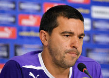 Cosmin Contra of Petrolul Ploiesti Press Conference Royalty Free Stock Photography