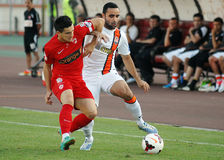 Cosmin Matei and Ismaily in Dinamo Bucharest-Shaktar Donetk Royalty Free Stock Images